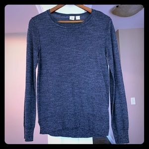 Gap Extra Fine 100% Merino Wool Sweater Gray Med
